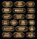 Metal plates premium quality golden collection Royalty Free Stock Image