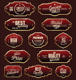 Metal plates premium quality golden collection Stock Image