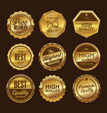 Metal plates premium quality golden collection Royalty Free Stock Photo