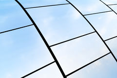 Metal plates reflects sky Royalty Free Stock Photos