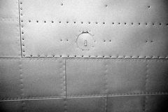 Metal plates with rivets Royalty Free Stock Image