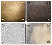 Metal plates Stock Photography