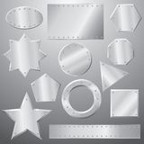 Metal plates set Royalty Free Stock Image