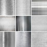 Metal plates textured backgrounds set Royalty Free Stock Photography
