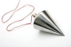 Metal Plumb. On white background Royalty Free Stock Photo