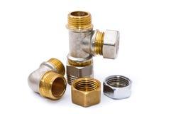 Metal plumbing fittings Stock Image