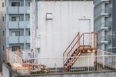 Metal pożarniczej ucieczki outside budynek Fotografia Stock