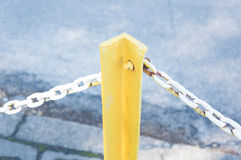 Metal pole chain Royalty Free Stock Photos