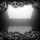 Metal polerujący tło z cogwheel przekładniami Obrazy Stock