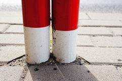 Metal poles Stock Images