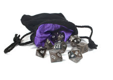 Metal polyhedral dice. Royalty Free Stock Photography
