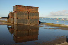 Metal pontoons. Stock Photography