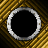 Metal Porthole on Grunge Background Royalty Free Stock Photo