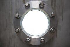 Metal porthole. Like modern background Stock Photos