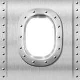 Metal porthole or window background Stock Images