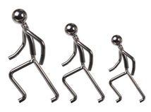 Metal postacie obraz stock