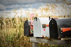 Metal postal boxes Royalty Free Stock Images