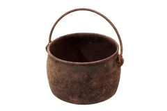 Metal pot Royalty Free Stock Images
