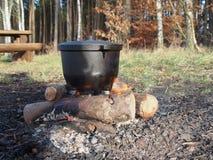 Metal pot Stock Photo