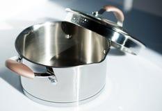 Metal pot Stock Photography