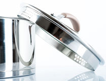Metal pot Royalty Free Stock Images
