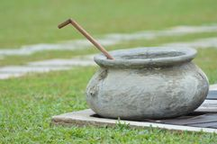 Metal Pot. At a garden in Sri Lanka Stock Images