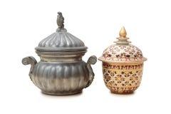 Metal pots Royalty Free Stock Photos