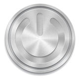 Metal power button Stock Photography