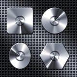 Metal power button Stock Photo