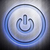 Metal power icon Stock Images