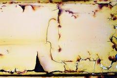 metal powierzchni stary ośniedziały, przetarty z korodowaniem i Zdjęcie Royalty Free