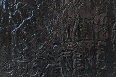 Metal powierzchnia maluje z czarną nafcianą farbą zdjęcia stock