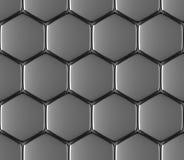 Metal powierzchnia stalowych sześciokątów bezszwowy tło royalty ilustracja