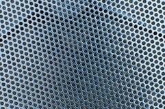 Metal powierzchnia z kółkowymi dziurami, tekstura Obraz Royalty Free