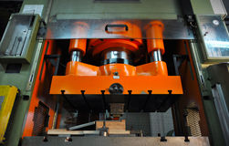 Metal Press Machine stock photo