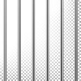 Metal Prison Bars Vector. Isolated On Transparent Background. Realistic Steel Pokey, Prison Grid Illustration Stock Photography