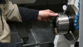 Metal processing machine with hydraulic system and stock video footage