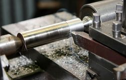 Free Metal Processing On A Lathe2 Royalty Free Stock Photos - 9360568