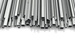 Metal products for building. On a white background. Building materials. 3d illustration Royalty Free Stock Photography