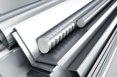 Metal products. 3d Illustrations Stock Image
