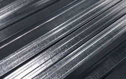 Metal profile shine texture background Royalty Free Stock Images