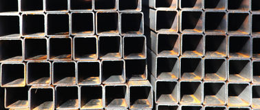Metal profile square tube Royalty Free Stock Images