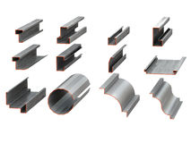 Metal profiles Stock Photography