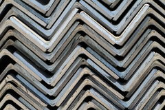 Metal profiles angle Stock Photo