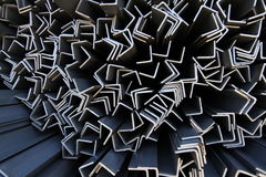 Metal profiles angle Stock Images