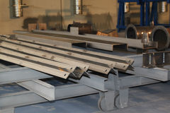 Metal profiles angle Stock Photo