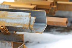 Metal profiles angle Royalty Free Stock Photo