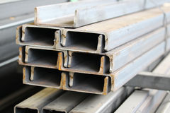 Metal profiles channel Royalty Free Stock Photo