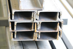 Metal profiles channel Stock Photos
