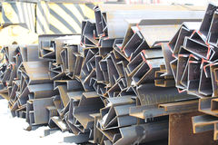 Metal profiles channel Royalty Free Stock Photos